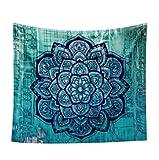 Lumanuby 1x Mandala Wandbehang Indisch Psychedelic Wandteppich Polyester Wandtuch Hippie Mehrzweck als Tischdecke Strandtuch Picknick Decke für Meditation oder Ruhe 150 * 130cm, B
