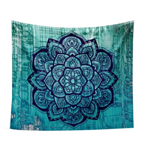 Lumanuby 1x Mandala Wandbehang Indisch Psychedelic Wandteppich Polyester Wandtuch Hippie Mehrzweck als Tischdecke Strandtuch Picknick Decke für Meditation oder Ruhe 150 * 130cm, B - Hippie Mandala