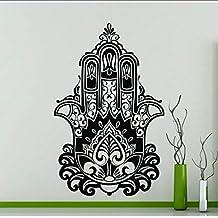 (Hjcmhjc) Vinilo Riligioso Hamsa Mano Fátima Estilo De Yoga Indio Mural De  Vinilo Casa ca89e434fbfe