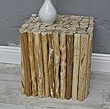 Sgabello marrone casetta Tavolino urbani in legno massello (dadi)