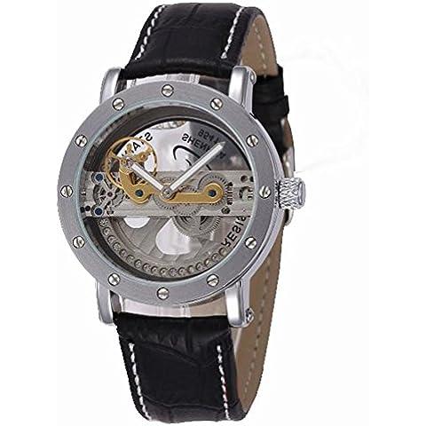Automático mecánico reloj Casual Hombres del reloj, negro