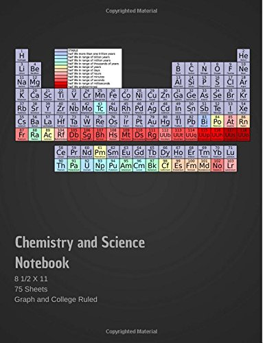 Chemistry and Science Notebook: 8 1/2 x 11 (75 Sheets) Graph and College Ruled Research Lab Notes