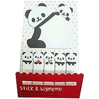 Spaufu 1x Notas Adhesivas Sticky Notes Marcadores Adhesivos Páginas Papel para Notas Kawaii Creativo Pegatinas Dibujos Animados 12,5x7,5cm