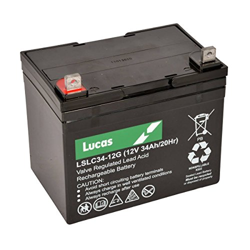 LSLC34-12G 34AH Lucas Deep Cycle AGM Golf Fahrdraht-Akku
