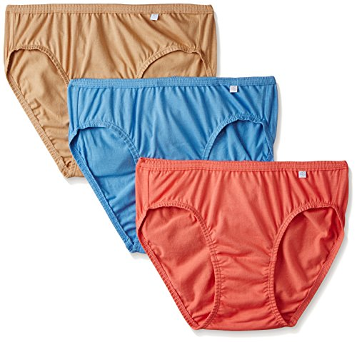 Jockey Women's Cotton Bikini (Pack of 3) (Color May Vary)
