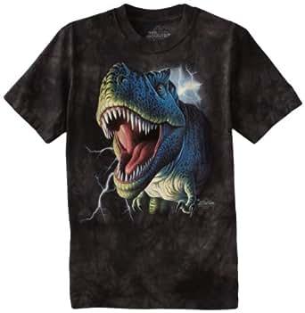 """The Mountain Lightening rex dinosaur T-shirt (XL child 34-36"""" chest)"""