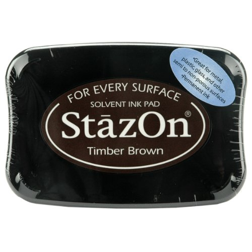 Tsukineko Stazon Stempelkissen Timber Brown (Acryl-leder-farbe Brown)