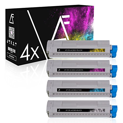 Preisvergleich Produktbild Alphafax 4 Toner für OKI MC853 MC870 MC873 DN DNCT DNV DNX Series