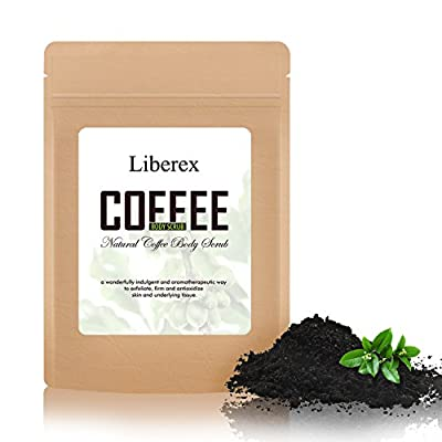 Liberex Full Coffee Body Scrub - Improved Formula with Organic Robusta Coffee Bean for Anti-Cellulite, Stretch Mark, Fat Lines, Acne Eczema Treatment, 200 g from Liberex