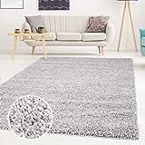 ayshaggy Shaggy Teppich Hochflor Langflor Einfarbig Uni Grau Weich Flauschig Wohnzimmer, Größe: Läufer 60 x 110 cm