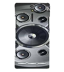 PrintVisa Music Speaker Bass 3D Hard Polycarbonate Designer Back Case Cover for Sony Xperia S :: SL LT26I LT26ii