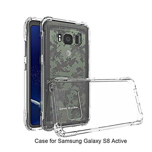 TopACE® Ultra Slim Transparente TPU Silicona Funda Protective Case Funda Cover para Samsung Galaxy S8 Active (Transparente)