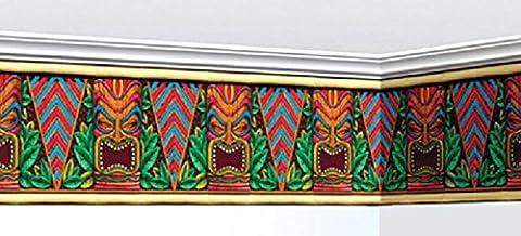 erdbeerclown - Party Dekoration Hawaii Tiki Aloha Motto 762x30 cm Banner Hula Bordüre, Mehrfarbig