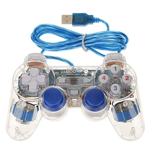 Price comparison product image Veroda Blue USB 2.0 Vibration Gamepad Game Controller Joypad Joystick for Computer Laptop Pack of 1