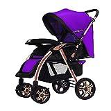 Guo@ Baby Trolley Aluminum Alloy Bracket Lightweight Folding 0/1-3 Years Old Child Cart