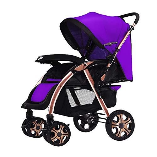 Bébé Guo@ Le Chariot léger d'alliage d'aluminium de Chariot de Pliant 0/1-3 Ans Le Chariot d'enfant Peut s'asseoir et Se Coucher portatif Transport Infantile