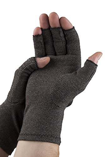 Pro11 Wellbeing Arthritis-Handschuhe für Wärme, Kompression und bessere Blutzirkulation schmerzlindernd und heilungsfördernd , Grau -...
