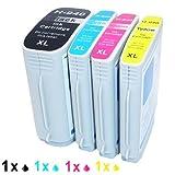 Generisches Kompatible Tintenpatrone als Ersatz für HP 940XL BK 940XL C 940XL M 940XL Y ( 1x Schwarz, 1x Cyan, 1x Magenta, 1x Gelb, 4er-Pack)