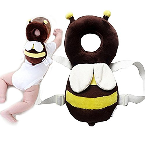 DaKos Baby Toddlers Head Protector For Baby Walkers (Age 4-24 Months) Ladybugs (Yellow And White)