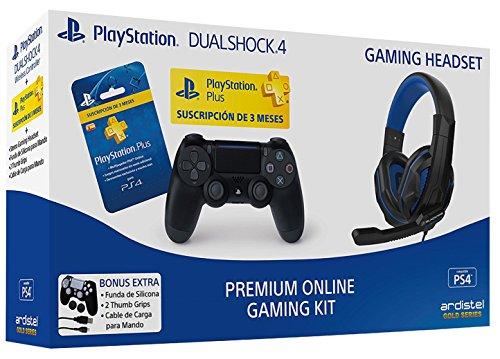Ardistel - Premium Online Gaming Kit (PS4) - Mando Dualshock 4 V2 + PS Plus 3...