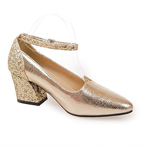balamasa Mesdames paillettes Couleurs assorties pumps-shoes givré Doré