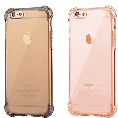 iPhone 6 Plus Case, Ibarbe 2Pack Apple iPhone 6s/6 Plus Case 5.5 Inch Clear TPU Bumper Cover Shock-Absorption Heavy Duty Bumper and Anti-Scratch Back for iPhone 6s Plus and iPhone 6 Plus 5.5 Inch