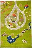 IVI Hypoallergen 3D Kinder Matte und Teppich (100x 150cm, mittel, grün und mehrfarbig, Farm)