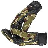 Fhouses- Camouflage Militaire Tactique Camping Tir Nylon Sport Gants d'entra?nement Combat Doigts Complet (Camouflage, M)