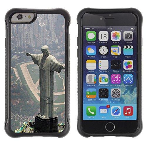 Graphic4You Christ The Redeemer Postkarte Ansichtskarte Design Shockproof Anti-Rutsch Weichen Hülle Case Tasche Schutzhülle für Apple iPhone 6 / 6S Design #8