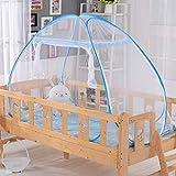 LIJIE Moustiquaire de Lit Moustiquaire Tent Portable Pliant Maille Pop-up Tente de Lit pour Chambre, en Plein Air, Voyage Anti Moustique pour Bébés Enfants (194 * 94cm),Blue