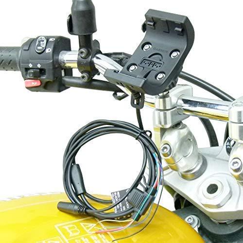 Buybits Rau Halterung mit Audio / Stromkabel mit M8 Motorrad Halterung für Garmin Montana 600/610/650/ 650t/680/ 680t