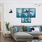 WEII Tapete Kreativer Weißer Hai Dekoration Aufkleber Home Schlafzimmer Konsole Sofa Wandaufkleber,Bild,Einheitsgröße