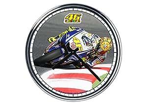 acier horloge murale Valentino Rossi