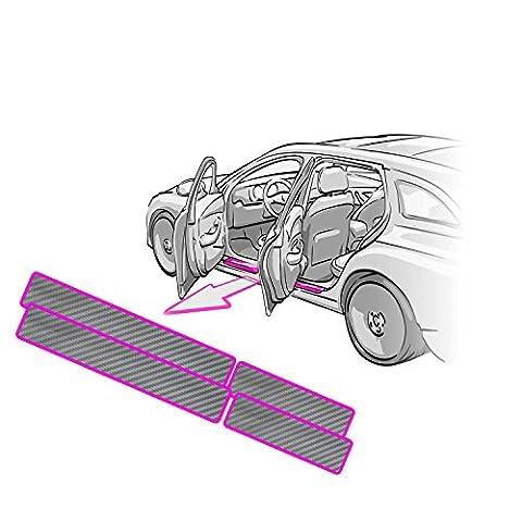 RENAULT GRAND SCENIC entrée Barres + Applicateur + Instructions Vernis Film carbone 3D argent–Convient pour Renault Grand Scenic–Film Protection d'Écran CCW©