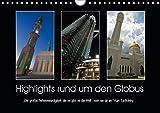 """Highlights rund um den Globus (Wandkalender 2019 DIN A4 quer): """"Die größte Sehenswürdigkeit, die es gibt, ist die Welt - sieh sie dir an."""" Kurt Tucholsky (Monatskalender, 14 Seiten) (CALVENDO Orte)"""