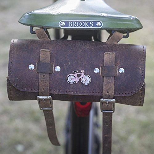 London Craftwork - Sillín de Piel para Bicicleta (edición Limitada), Color Rosa