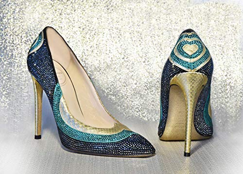 Dècolletè python with Swarovski® Python Stiletto Pumps