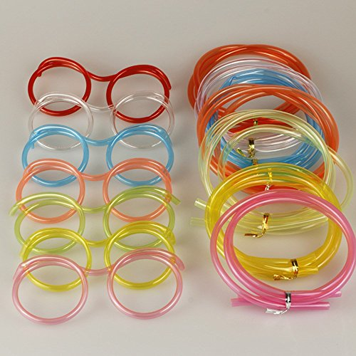 ZHPJJLYHTQ 10 pcsStyling Stroh_Kinder Auge Augenoptik Stroh Stroh food grade material DIY Styling Brillen, Transparent