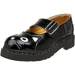 TUK T2025 FRAUEN Mädchen 42 Schuhe Anarchic von T.U.K. Schwarz Leder Kitty Mary Jane