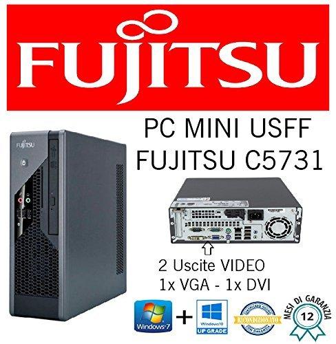 Mini PC Slim Fujistu C5731 E8400 3.0 GHZ/RAM 4 GB/HD 250 GB/DVD+RW/WIN 10 PRO (überholt mit Zertifikat)