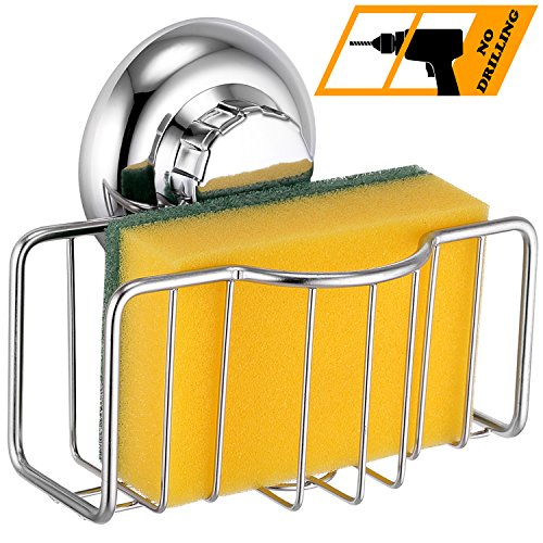 Marmor-glas-schüssel (MaxHold Saugschraube Schwammhalter,Befestigen ohne bohren – Edelstahl rostet nicht – Küchen & Badezimmer Aufbewahrung)