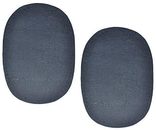 Unbekannt 2 Stk. Nappa - echtes Leder Flicken - dunkel blau - 10 cm * 13 cm - oval - zum Aufnähen...