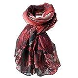 HUHU833 Écharpes châle foulards Femmes mode impression longue écharpe châle Automne Hiver