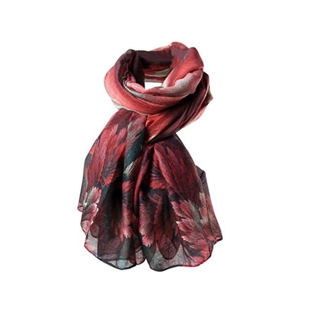 e4a082a845dcb HUHU833 Écharpes châle foulards Femmes mode impression longue écharpe châle  Automne Hiver ...
