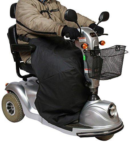 Mobilex Thermo-Kniedecke für Rollstuhl- und Scooterfahrer, schwarz, Beinschutzdecke zum Schutz des Unterkörpers, Sitzbreite 42-45 cm