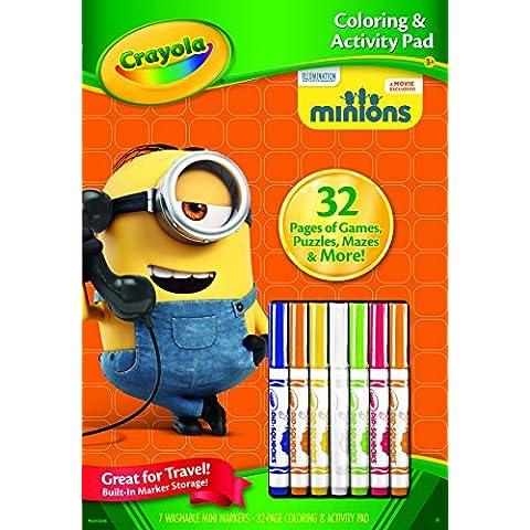 Crayola - colorazione e l'attività libro, design Minions (04-5856)
