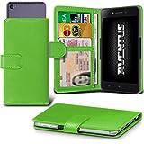 Aventus (Green) Wileyfox Spark X Hulle Premium-PU-Leder