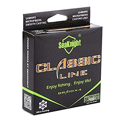 SeaKnight Classic 4 Strands Braided Fishing Line 300m/327 yards Super Braided Line Thinner,Stronger and Smoother Fishing Line 6-80 Lbs from SeaKnight