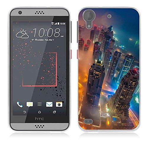 Desire 530 Hülle Case, Fubaoda [Stadtboden Wald] Ultra-Clear HTC Desire 530 Case Silikon Soft TPU Premium Handyhülle Case Backcover Bumper Slim case für HTC Desire 530