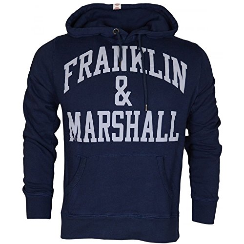Franklin & Marshall FLMVA089XMW16, Felpa Uomo, Blu (Navy), Medium